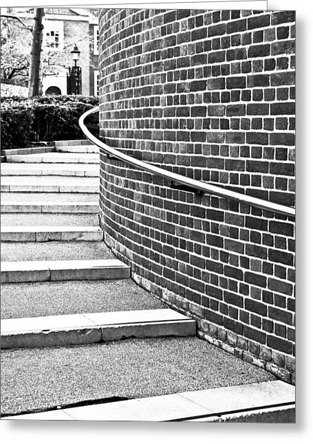 Stepping Stones Photographs Greeting Cards - Stone steps Greeting Card by Tom Gowanlock