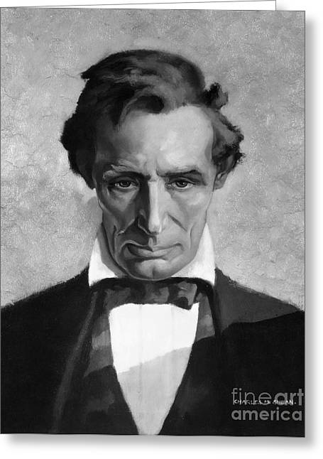 Republican Greeting Cards - Abraham Lincoln (1809-1865) Greeting Card by Granger