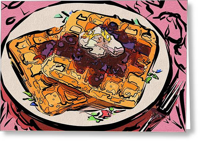 Local Food Digital Greeting Cards - Art Food Coloring Greeting Card by Michael Vicin