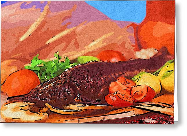Local Food Digital Greeting Cards - Art Food Love Greeting Card by Michael Vicin