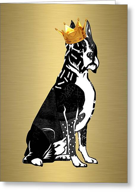 Boxer Collection Greeting Card by Marvin Blaine