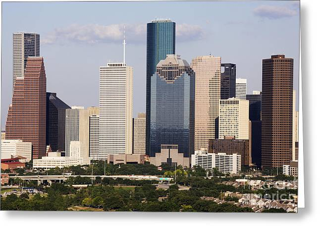 Office Space Greeting Cards - City Skyline Greeting Card by Jeremy Woodhouse