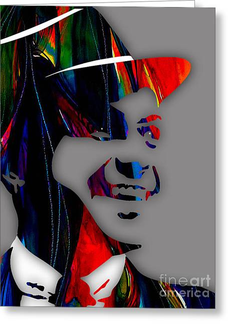 Concert Greeting Cards - Frank Sinatra Collection Greeting Card by Marvin Blaine