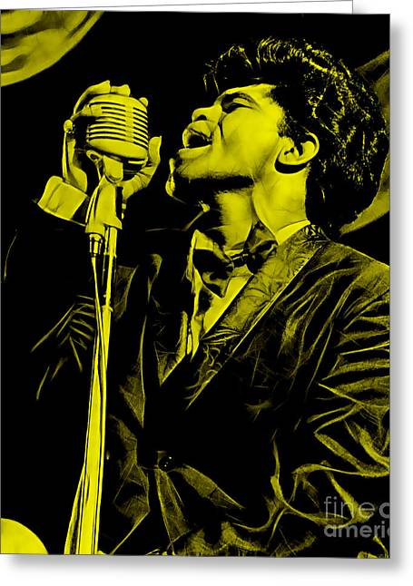 James Greeting Cards - James Brown Collection Greeting Card by Marvin Blaine