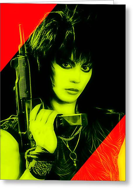 Hearts Greeting Cards - Joan Jett Collection Greeting Card by Marvin Blaine