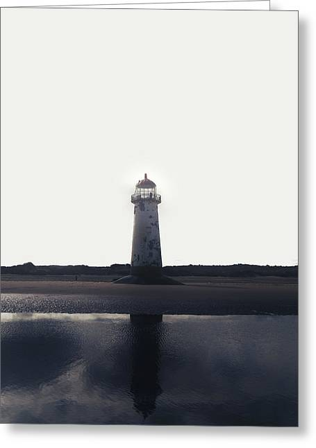 Ocean. Reflection Greeting Cards - Lighthouse Greeting Card by Joana Kruse