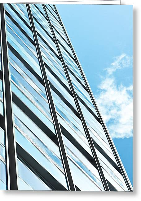 Workplace Photographs Greeting Cards - Modern architecture Greeting Card by Tom Gowanlock