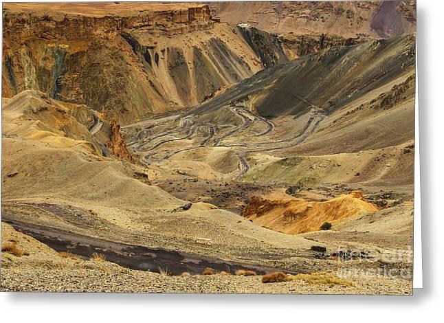 Moonland Ladakh Jammu And Kashmir India Greeting Card by Rudra Narayan  Mitra