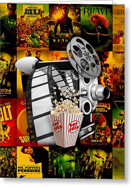 Movie Room Decor Collection Greeting Card by Marvin Blaine