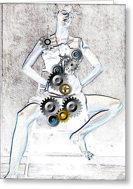 Lavers Greeting Cards - Nude Greeting Card by Bogdan Floridana Oana