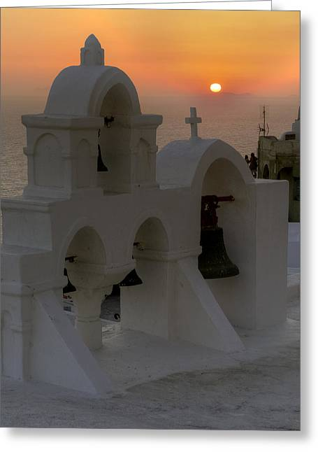 Domes Greeting Cards - Oia - Santorini Greeting Card by Joana Kruse