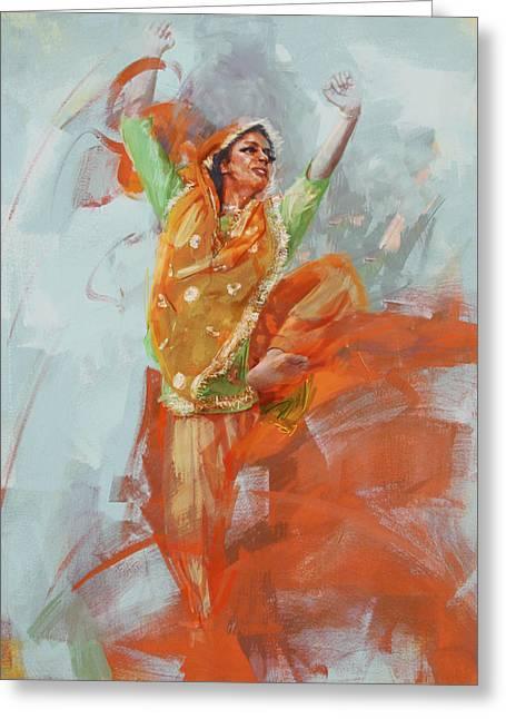 14 Pakistan Folk Punjab B Greeting Card by Mahnoor Shah