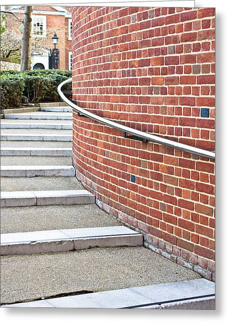 Staircase Greeting Cards - Stone steps Greeting Card by Tom Gowanlock