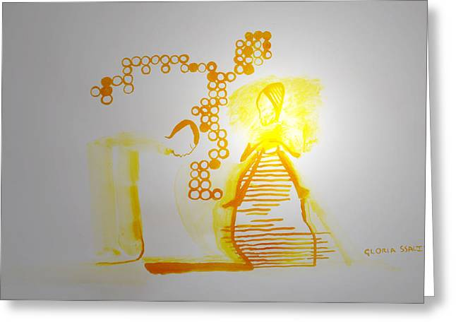 Testament Greeting Cards - The Annunciation Greeting Card by Gloria Ssali