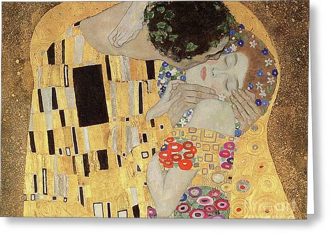 The Kiss Greeting Card by Gustav Klimt