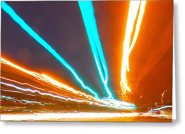 Long Street Greeting Cards - Traveling At Speed Of Light Greeting Card by Alexandr Grichenko