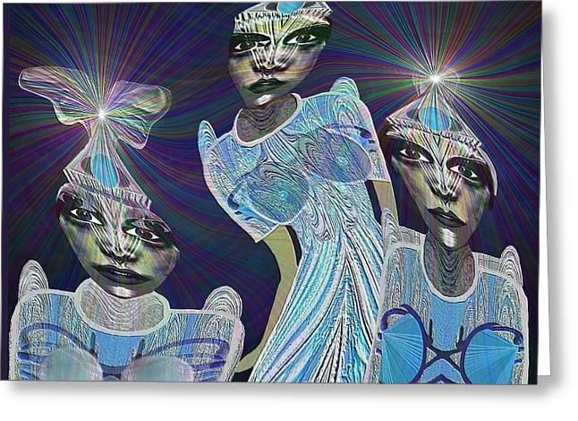 Top Model Greeting Cards - 140 - Beautiful Models  from Outer Space   Greeting Card by Irmgard Schoendorf Welch
