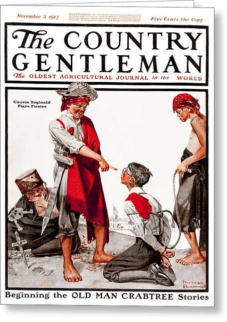 Bully Greeting Cards - Cover Of Country Gentleman Agricultural Greeting Card by Remsberg Inc