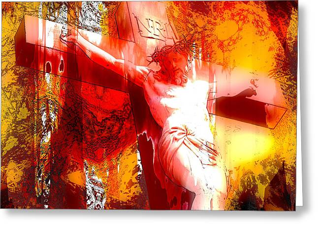 Jesus Greeting Cards - Jesus Christ - Religious Art Greeting Card by Elena Kosvincheva