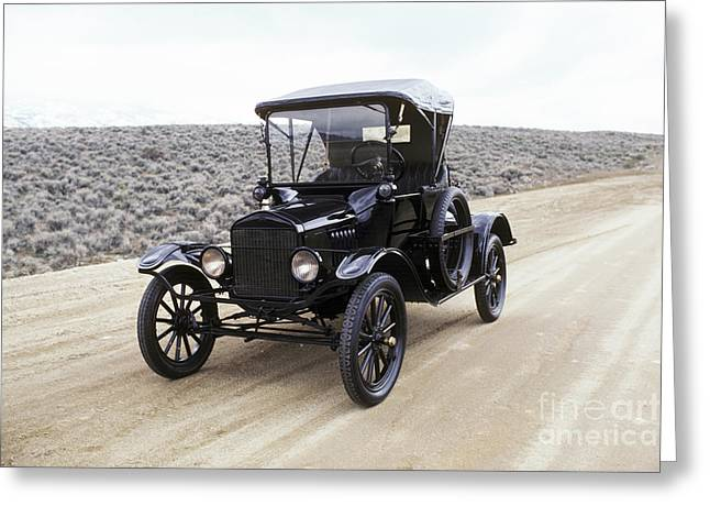 Ford Model T Car Greeting Cards - American Cars Greeting Card by Baron Wolman