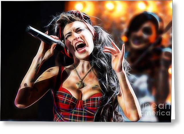 Amy Winehouse Greeting Cards - Amy Winehouse Collection Greeting Card by Marvin Blaine