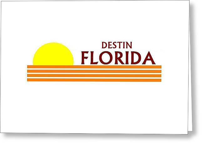 Florida Panhandle Digital Greeting Cards - Destin Florida Greeting Card by Brian