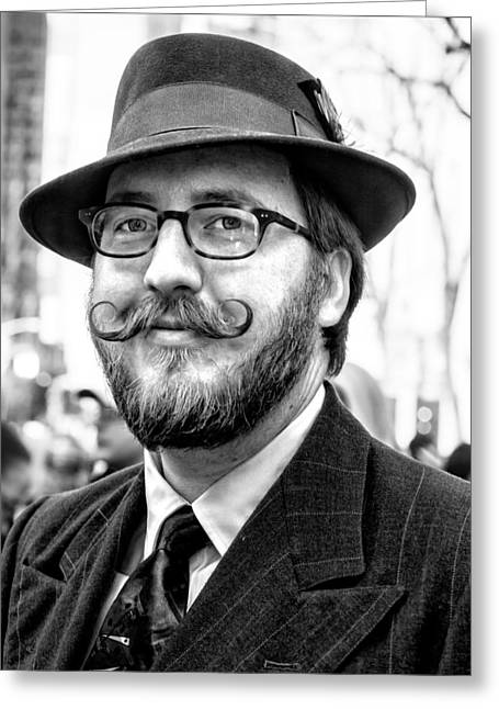 Mustache Greeting Cards - Easter Parade NYC 2015 Greeting Card by Robert Ullmann