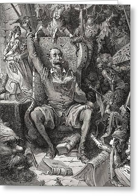 Engraving By Gustave Dore 1832-1883 Greeting Card by Vintage Design Pics