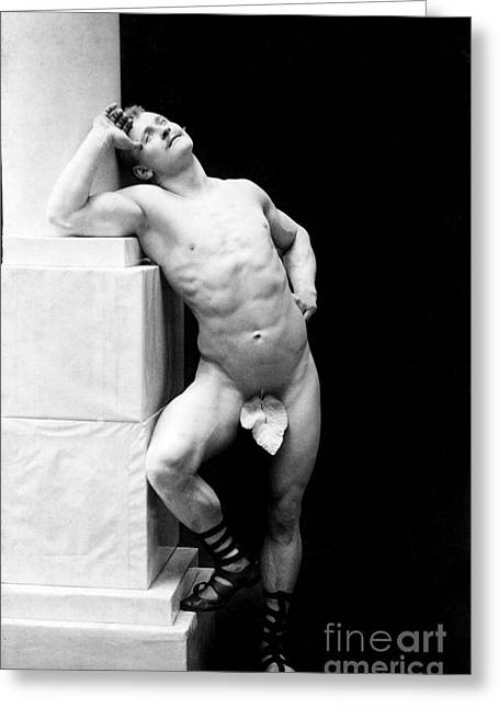 Muscleman Greeting Cards - Eugen Sandow, Father Of Modern Greeting Card by Science Source