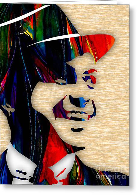 Frank Sinatra Greeting Cards - Frank Sinatra Collection Greeting Card by Marvin Blaine