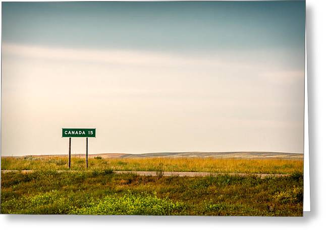 15 Miles From The Border Greeting Card by Todd Klassy
