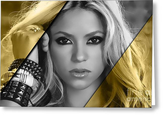 Shakira Collection Greeting Card by Marvin Blaine