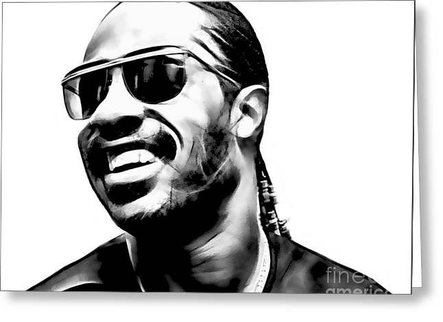 Soul Greeting Cards - Stevie Wonder Collection Greeting Card by Marvin Blaine