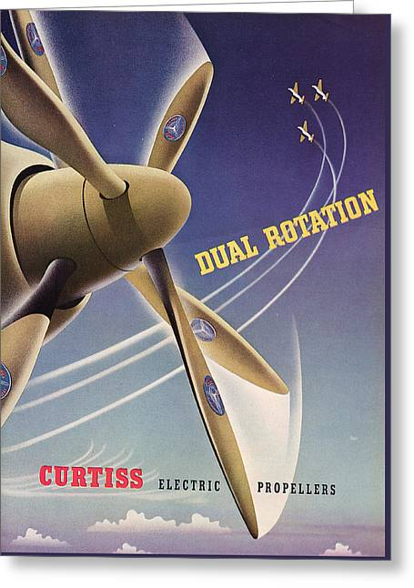 Propeller Greeting Cards - World War II Advertisement  Greeting Card by American School