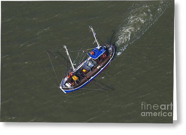 Prawn Boat Greeting Cards - 150403p215 Greeting Card by Arterra Picture Library