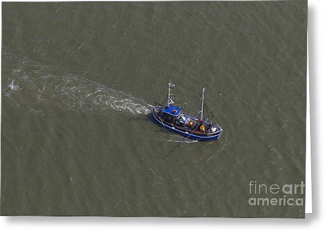 Prawn Boat Greeting Cards - 150403p217 Greeting Card by Arterra Picture Library