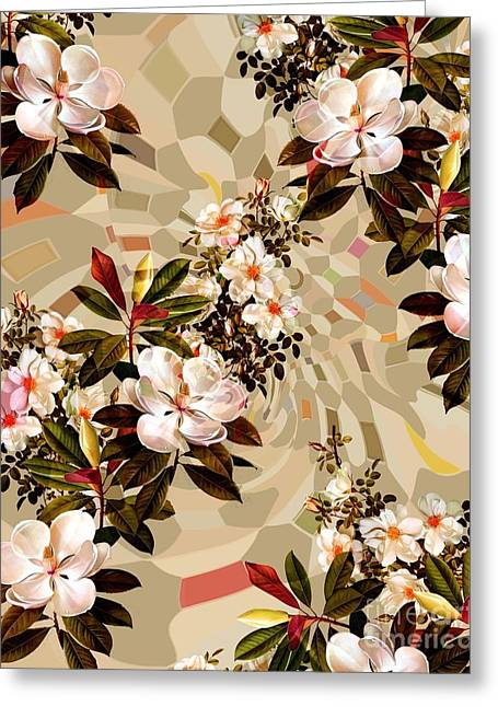 White Dress Tapestries - Textiles Greeting Cards - 15591 Greeting Card by Sottosopra
