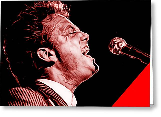 Pop Singer Greeting Cards - Billy Joel Collection Greeting Card by Marvin Blaine