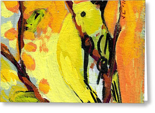 Sparrow Paintings Greeting Cards - 16 Birds No 1 Greeting Card by Jennifer Lommers
