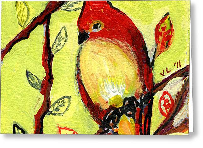 Series Paintings Greeting Cards - 16 Birds No 3 Greeting Card by Jennifer Lommers
