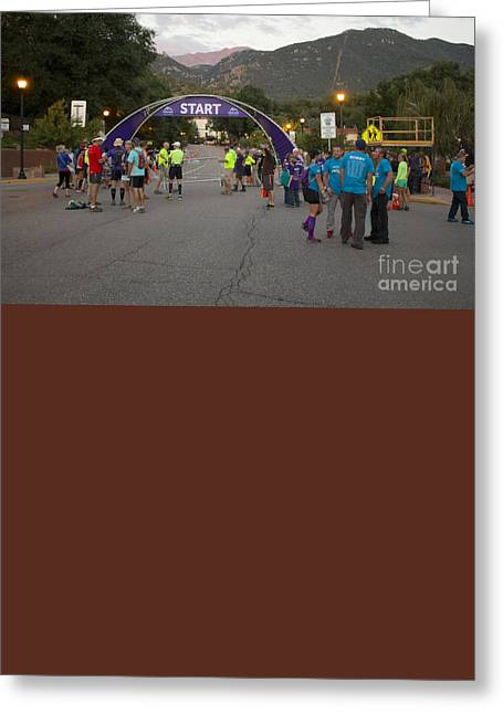 Footrace Greeting Cards - Pikes Peak Marathon and Ascent Greeting Card by Steve Krull