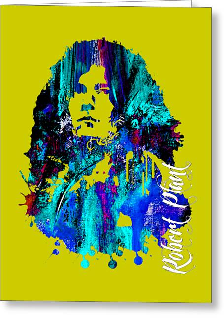 Blues Greeting Cards - Robert Plant Collection Greeting Card by Marvin Blaine