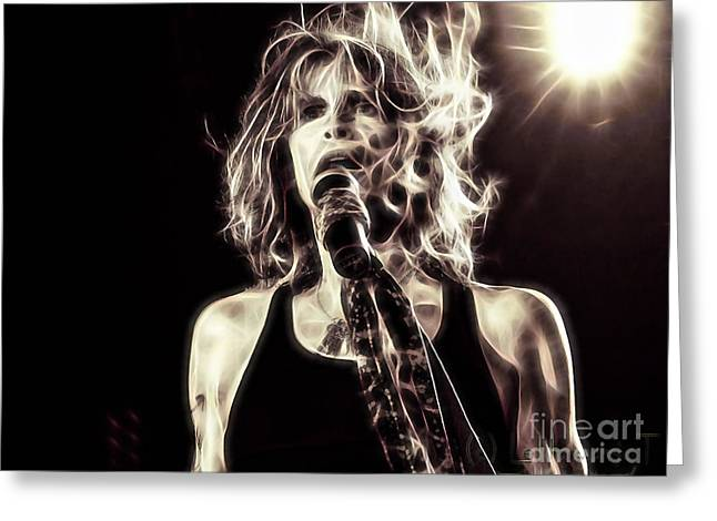 Steven Tyler Greeting Cards - Steven Tyler Collection Greeting Card by Marvin Blaine