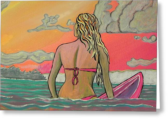 Surfart Greeting Card by W Gilroy