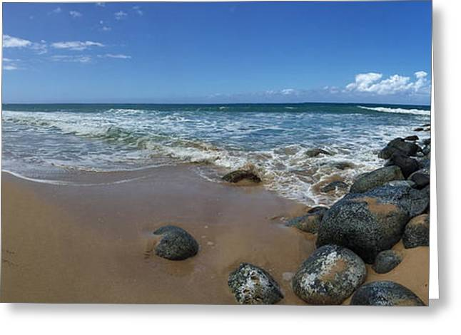 Longitude Greeting Cards - 160 West Poli Hale Beach Greeting Card by Steven Lapkin