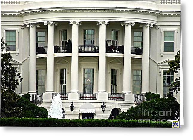 Michelle Obama Greeting Cards - 1600 Pennsylvania Avenue Greeting Card by Casavecchia Photo Art