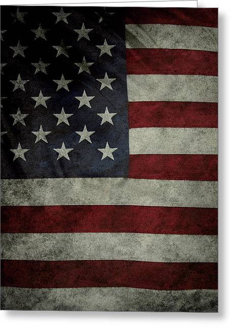 American Flags Greeting Cards - American flag Greeting Card by Les Cunliffe