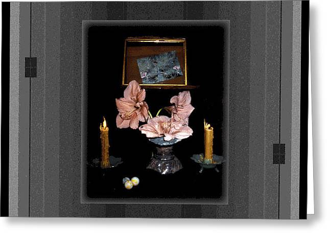 Candle Lit Greeting Cards - Digital Artistry Greeting Card by Stephen Gredler
