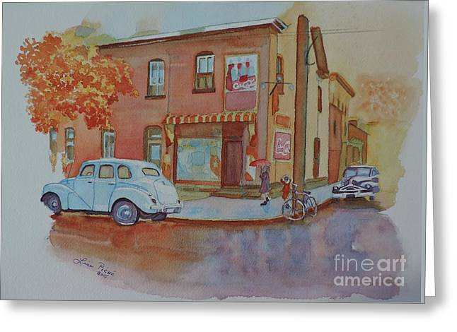 169 York Street Circa 1955 Greeting Card by Lise PICHE