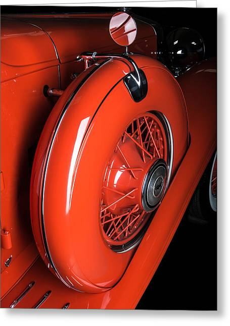 Head Badge. Logo. Greeting Cards - 1931 Stutz Derham Roadster Greeting Card by Bourne Images